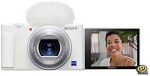 Sony ZV-1 Camera for Content Creators and Vloggers, White, Compact (DCZV1/W)