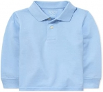 The Children's Place Baby Boys and Toddler Boys Long Sleeve Pique Polo
