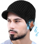 Bluetooth Beanie Gift for Men and Women,Upgrade Bluetooth 5.0 Winter Knitting Beanie Cap Stocking Stuffers Gifts