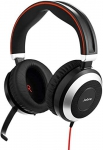 Jabra Evolve 80 MS Teams Wired Headset Professional Telephone Headphones with Unrivalled Noise Cancellation for Calls and Music, Features World Class Speakers and All Day Comfort