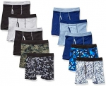 Hanes Boys' ComfortSoft Waistband Boxer Briefs 10-Pack (Assorted/Colors May Vary)